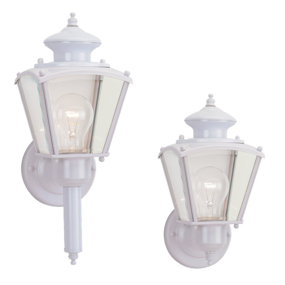 Sea Gull Lighting New Castle 1 Light Outdoor Wall Lantern in White 8503-15