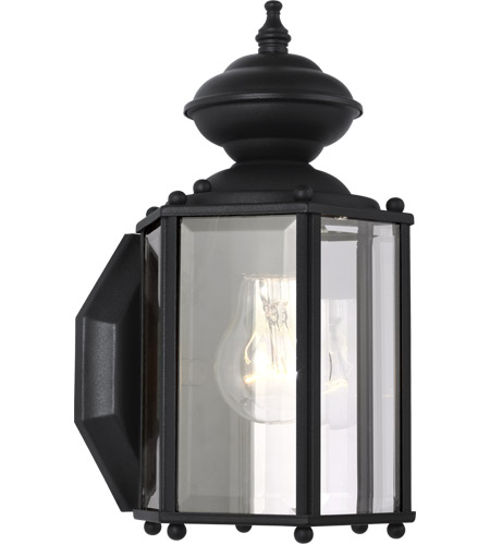Sea Gull Lighting Classico 1 Light Outdoor Wall Lantern in Black 8507-12 photo