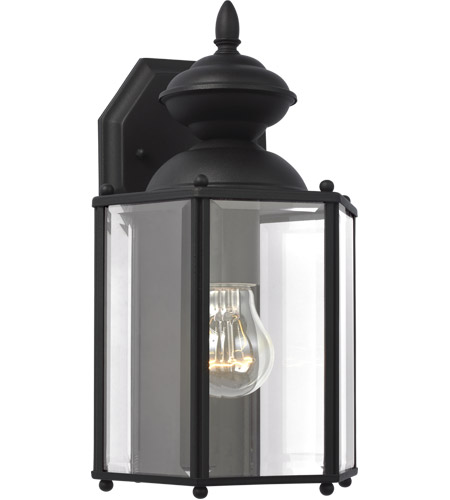 Sea Gull 8509-12 Classico 1 Light 12 inch Black Outdoor Wall Lantern photo