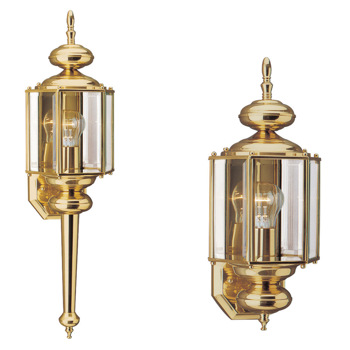 Sea Gull Lighting Classico 1 Light Outdoor Wall Lantern in Polished Brass 8510-02 photo
