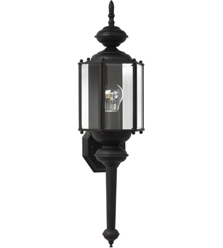 Sea Gull Lighting Classico 1 Light Outdoor Wall Lantern in Black 8510-12