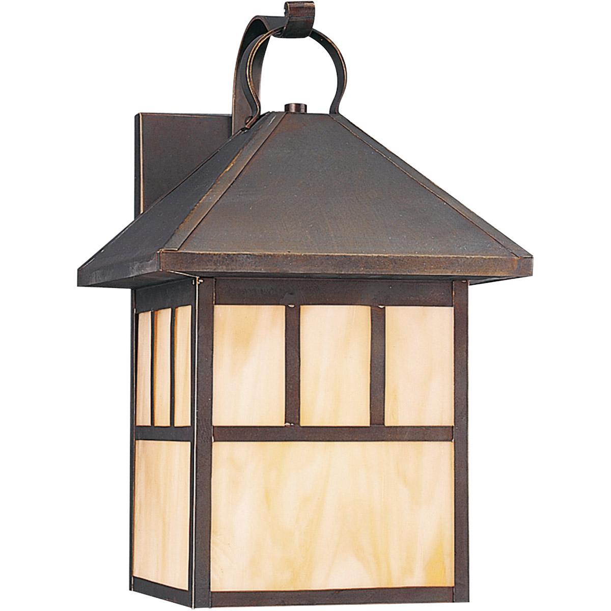 Sea Gull Lighting Prairie Statement 1 Light Outdoor Wall Lantern in Antique Bronze 8513-71 photo