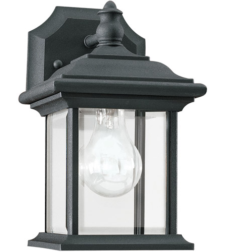 Sea Gull Lighting Wynfield 1 Light Outdoor Wall Lantern in Black 85200-12