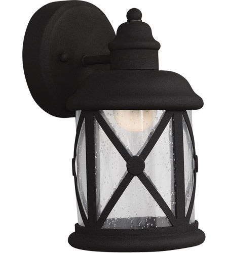 Sea Gull 8521492S-12 Lakeview LED 10 inch Black Outdoor Wall Sconce photo