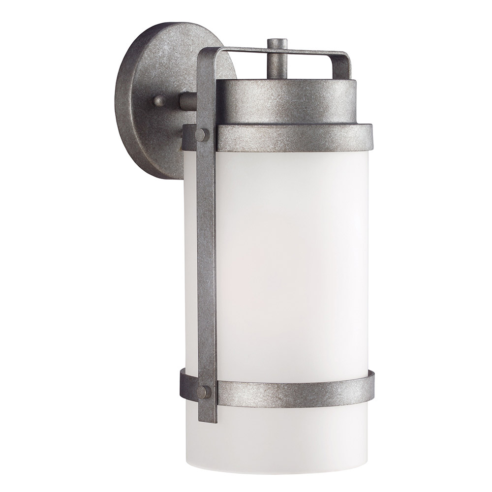 Sea Gull Bucktown 1 Light Wall Lantern in Weathered Pewter 8522401-57 photo