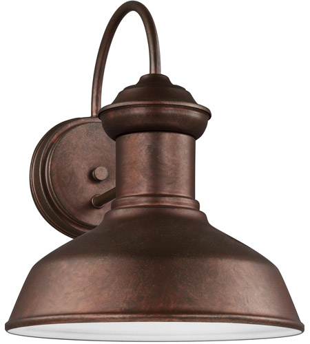 Sea Gull 8547793S-44 Fredricksburg LED 12 inch Weathered Copper Outdoor Wall Lantern photo