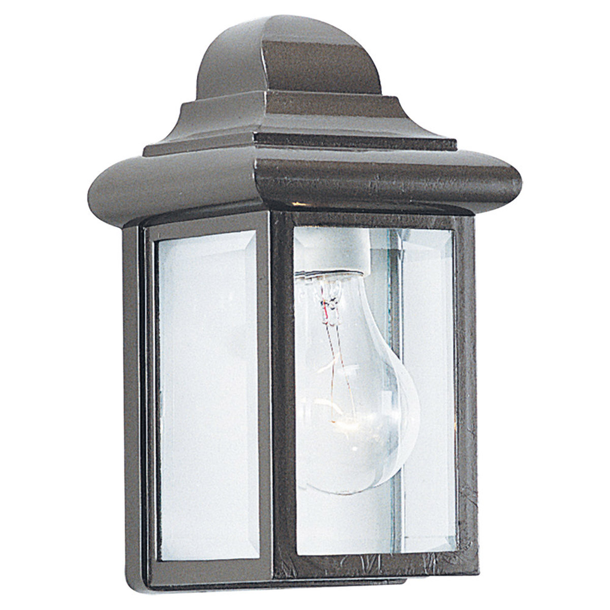 Sea Gull Lighting Mullberry Hill 1 Light Outdoor Wall Lantern in Bronze 8588-10