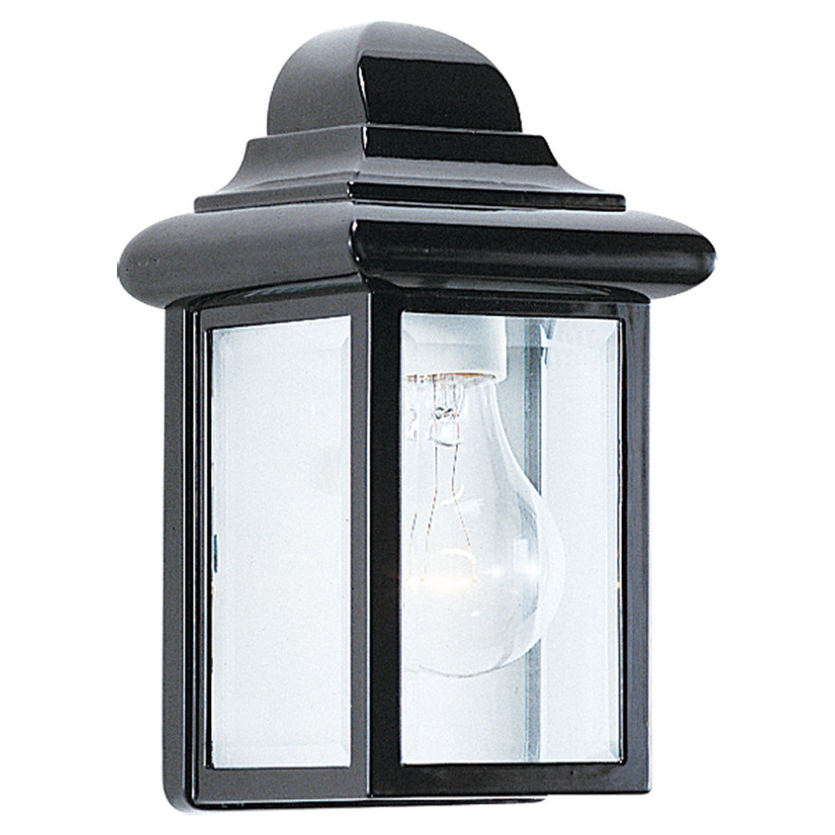 Sea Gull Lighting Mullberry Hill 1 Light Outdoor Wall Lantern in Black 8588-12