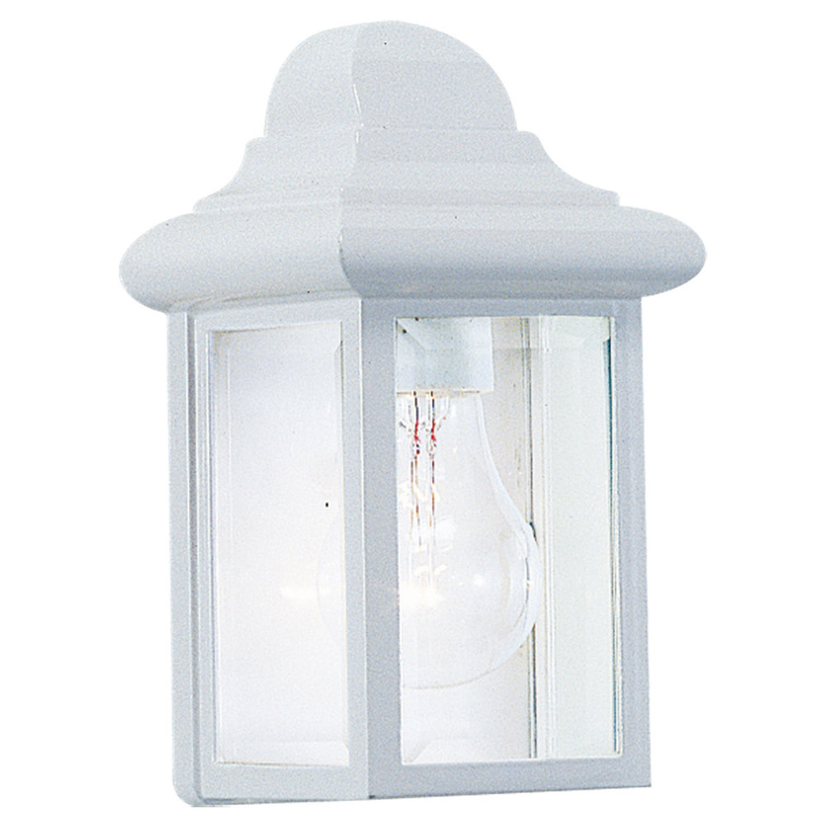 Sea Gull Lighting Mullberry Hill 1 Light Outdoor Wall Lantern in White 8588-15 photo