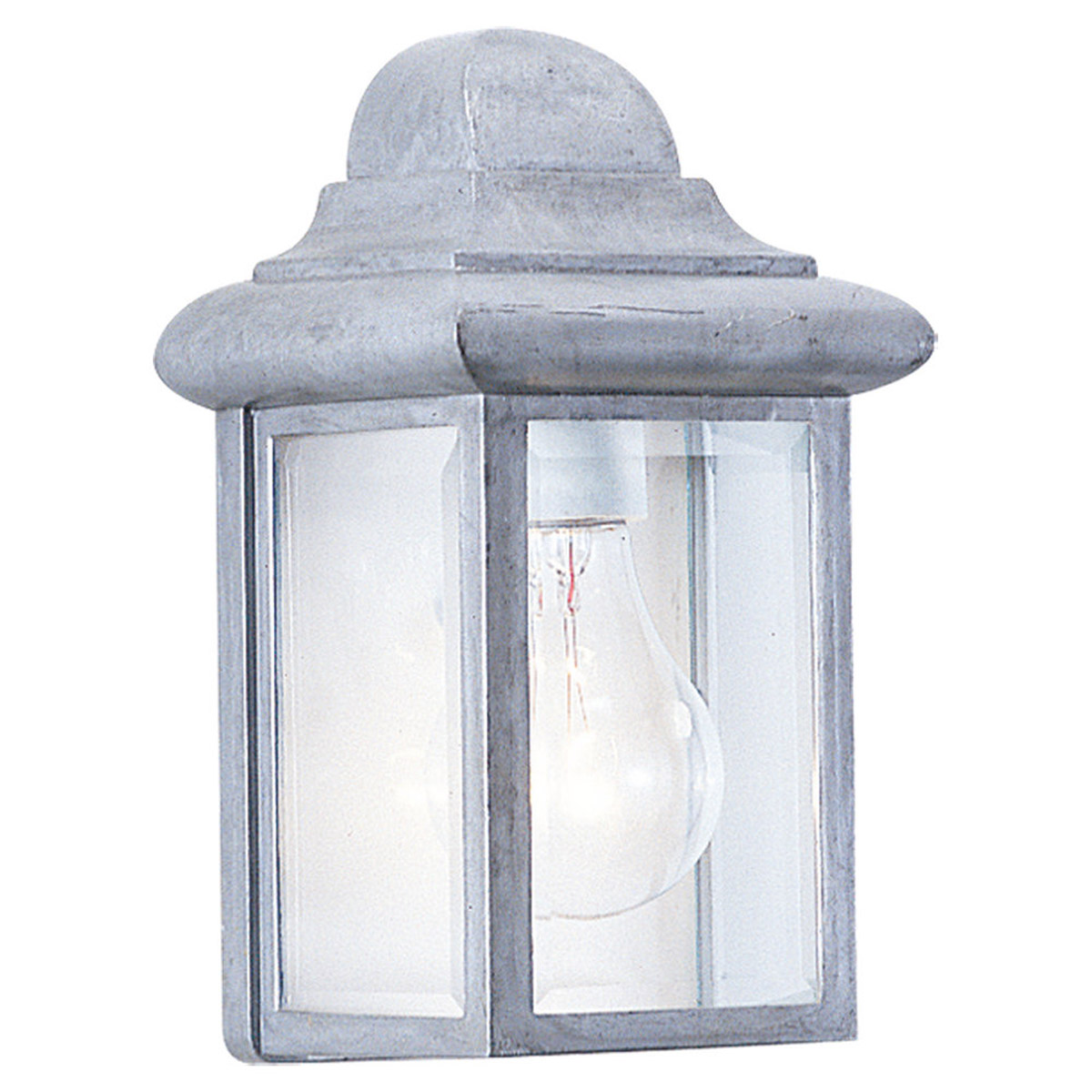 Sea Gull 8588-155 Mullberry Hill 1 Light 9 inch Pewter Outdoor Wall Lantern in Pewter 155 photo