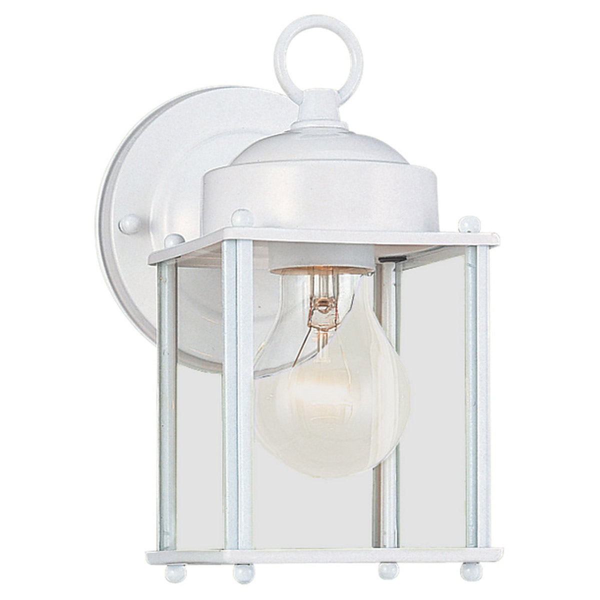 Sea Gull Lighting New Castle 1 Light Outdoor Wall Lantern in White 8592-15