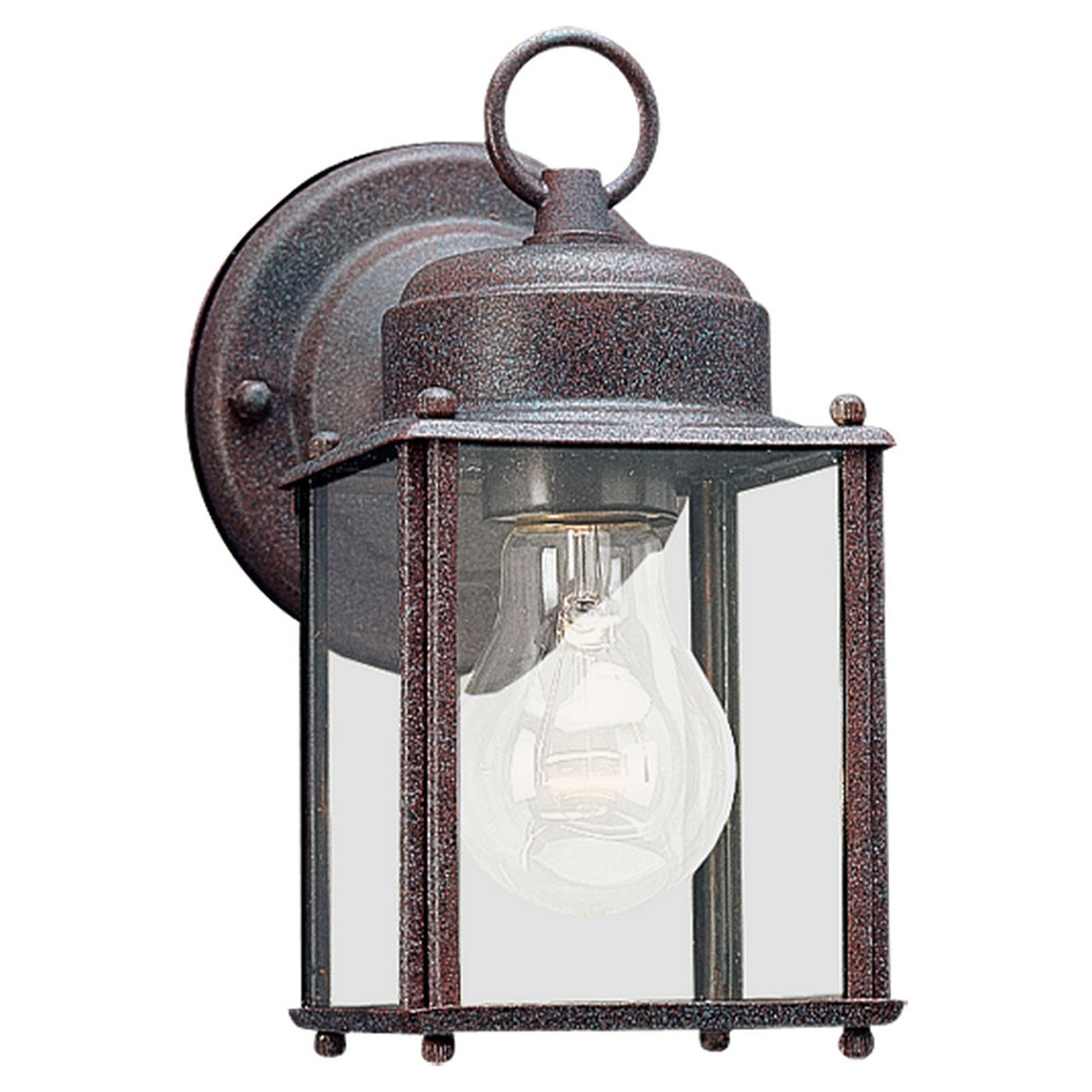 Sea Gull 8592-26 New Castle 1 Light 8 inch Sienna Outdoor Wall Lantern photo