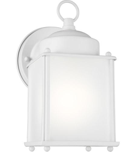Sea Gull 8592001-15 New Castle 1 Light 8 inch White Outdoor Wall Lantern photo