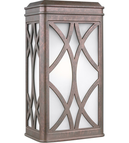 Sea Gull 8619601-44 Melito 1 Light 13 inch Weathered Copper Outdoor Wall Lantern photo thumbnail