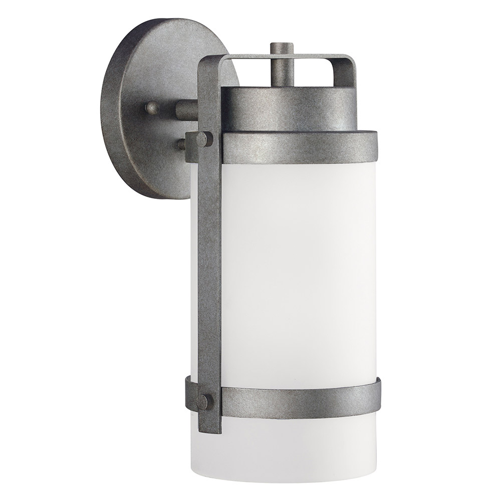Sea Gull Bucktown 1 Light Wall Lantern in Weathered Pewter 8622401-57