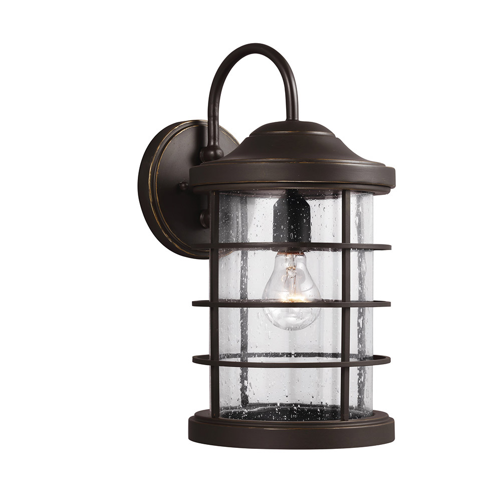 Sea Gull 8624401-71 Sauganash 1 Light 9 inch Antique Bronze Wall Lantern Wall Light in Standard photo