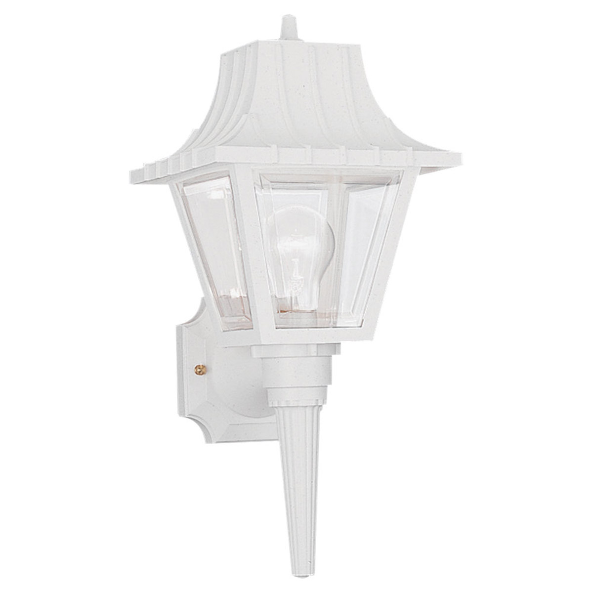 Sea Gull Lighting Polycarb Painted Lanterns 1 Light Outdoor Wall Lantern in White 8720-15