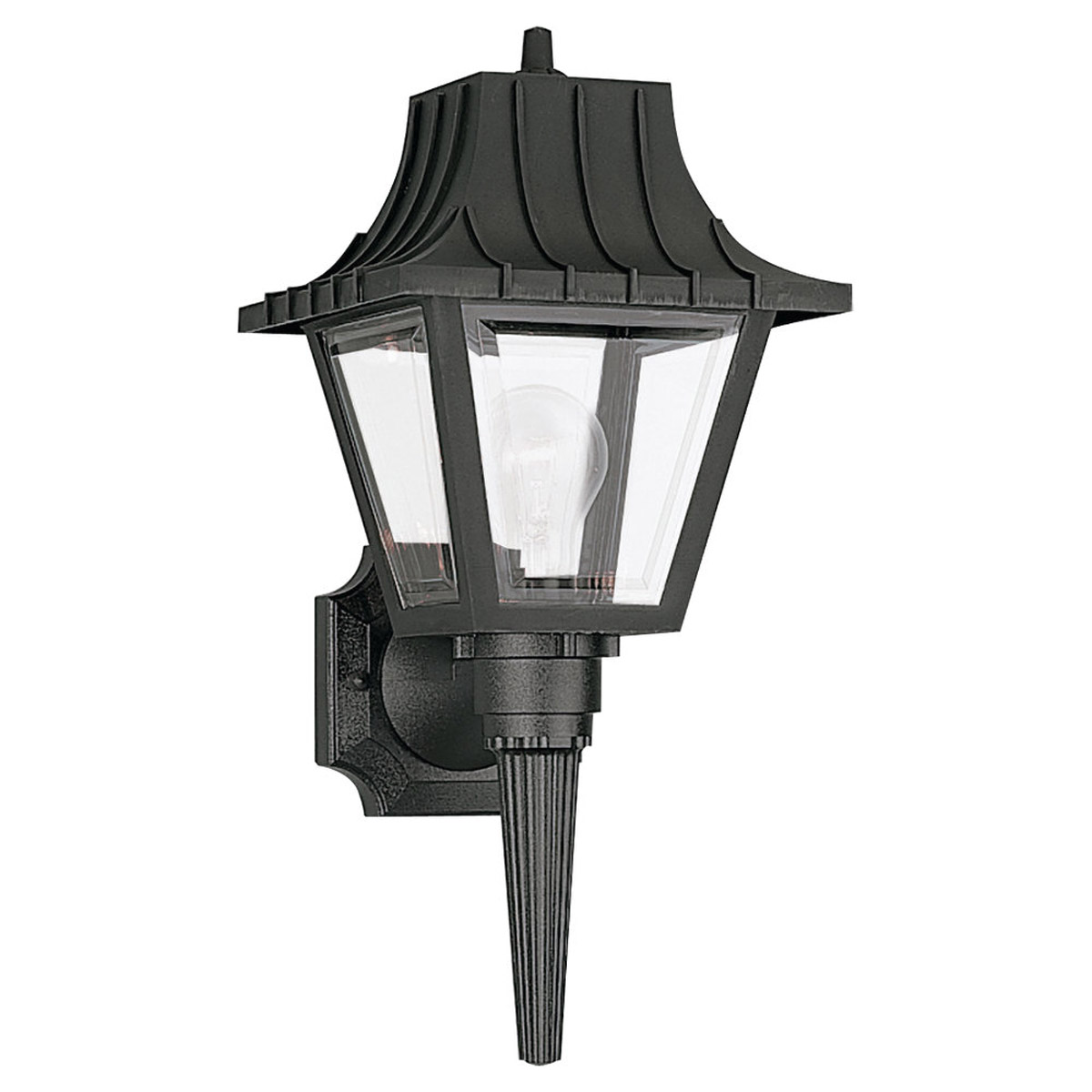 Sea Gull Lighting Polycarbonate Outdoor 1 Light Outdoor Wall Lantern in Clear 8720-32 photo