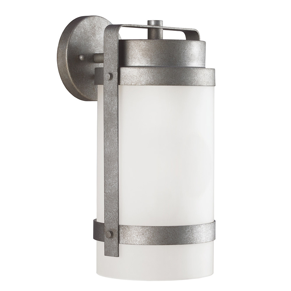 Sea Gull Bucktown 1 Light Wall Lantern in Weathered Pewter 8722401-57