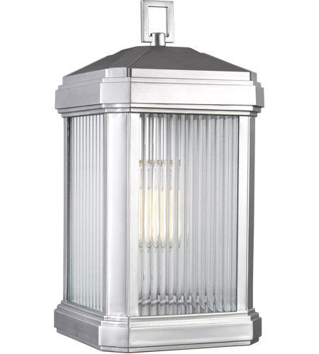 Sea Gull 8747431-753 Gaelan 1 Light 17 inch Painted Brushed Nickel Outdoor Wall Lantern photo thumbnail