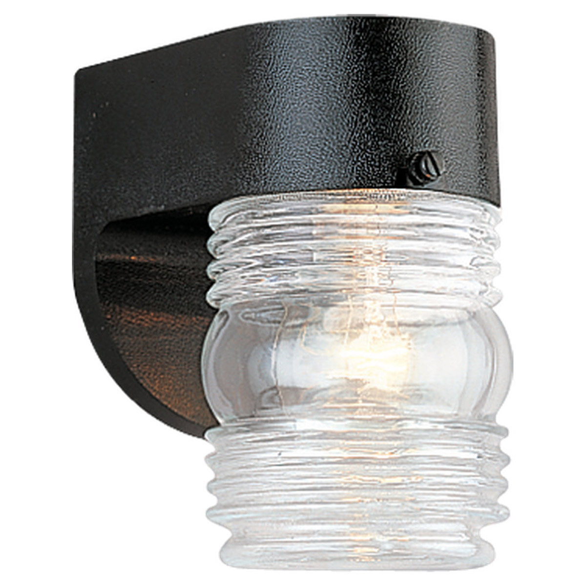 Sea Gull Lighting Signature 1 Light Outdoor Wall Lantern in Black 8750-12