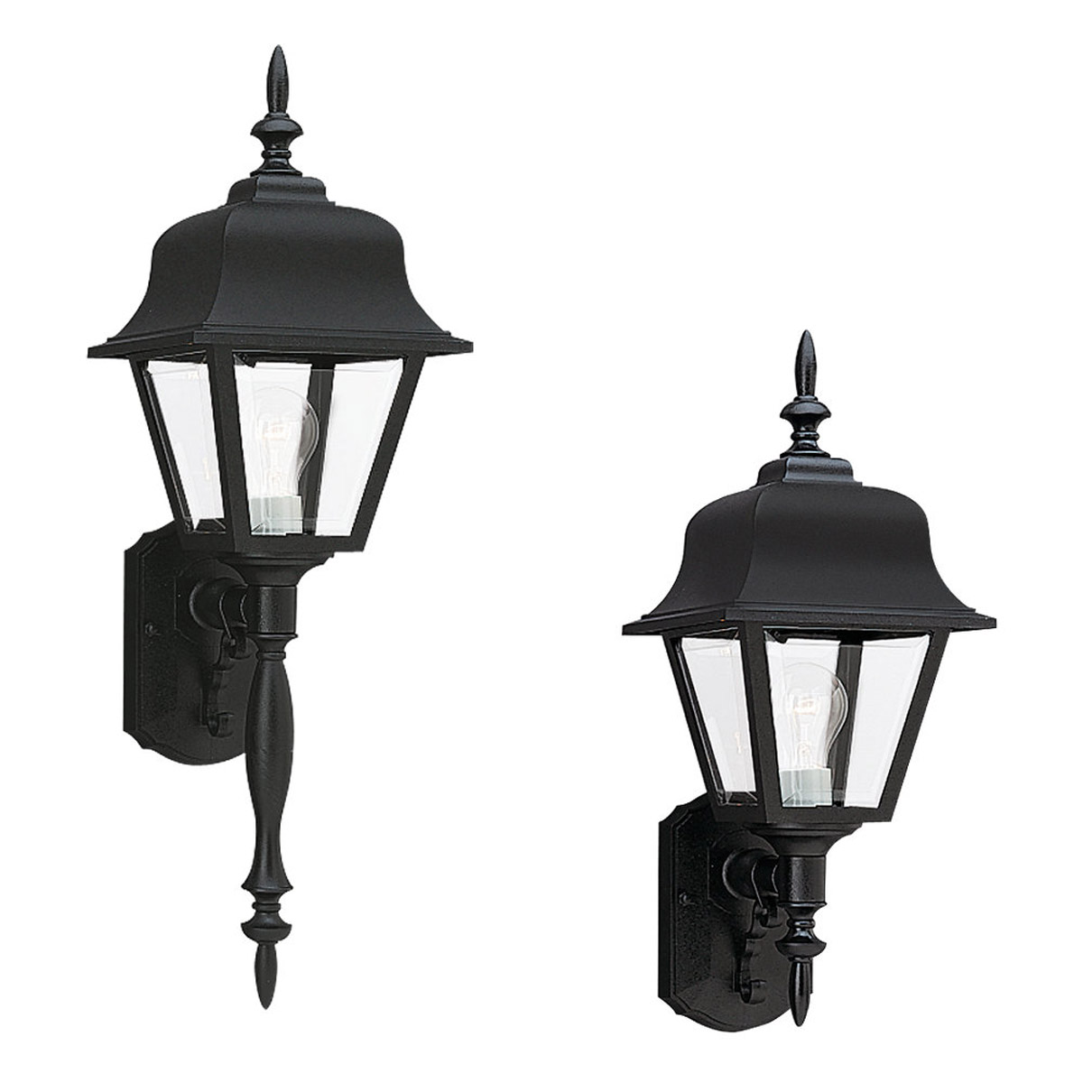 Sea Gull Lighting Polycarb Painted Lanterns 1 Light Outdoor Wall Lantern in Black 8765-12 photo