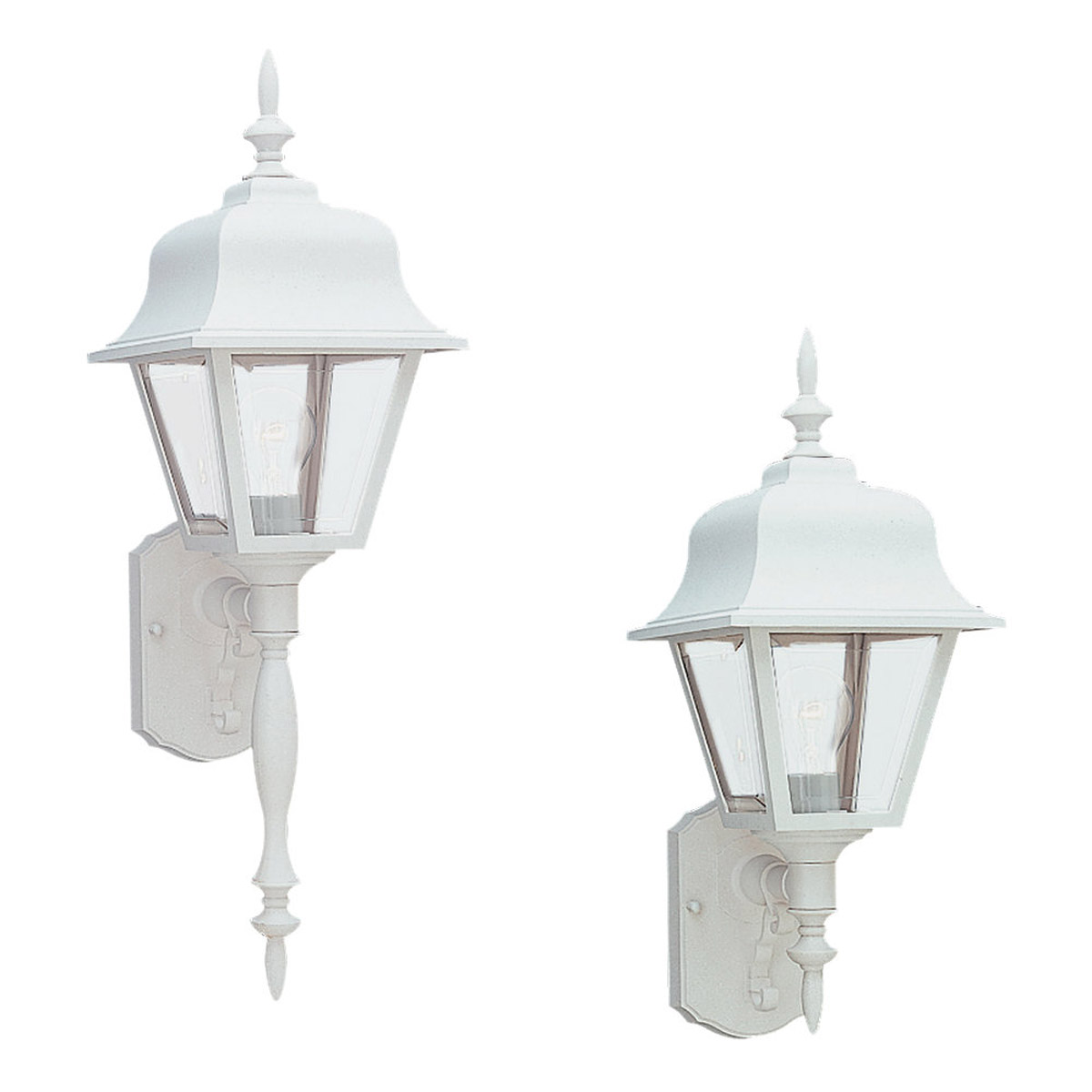 Sea Gull 8765-15 Painted Polycarbonate Lanterns 1 Light 26 inch White Outdoor Wall Lantern photo