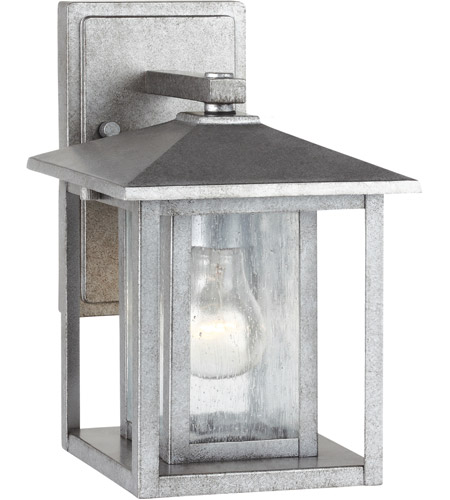 Sea Gull Hunnington 1 Light Outdoor Wall Lantern in Weathered Pewter 88025-57