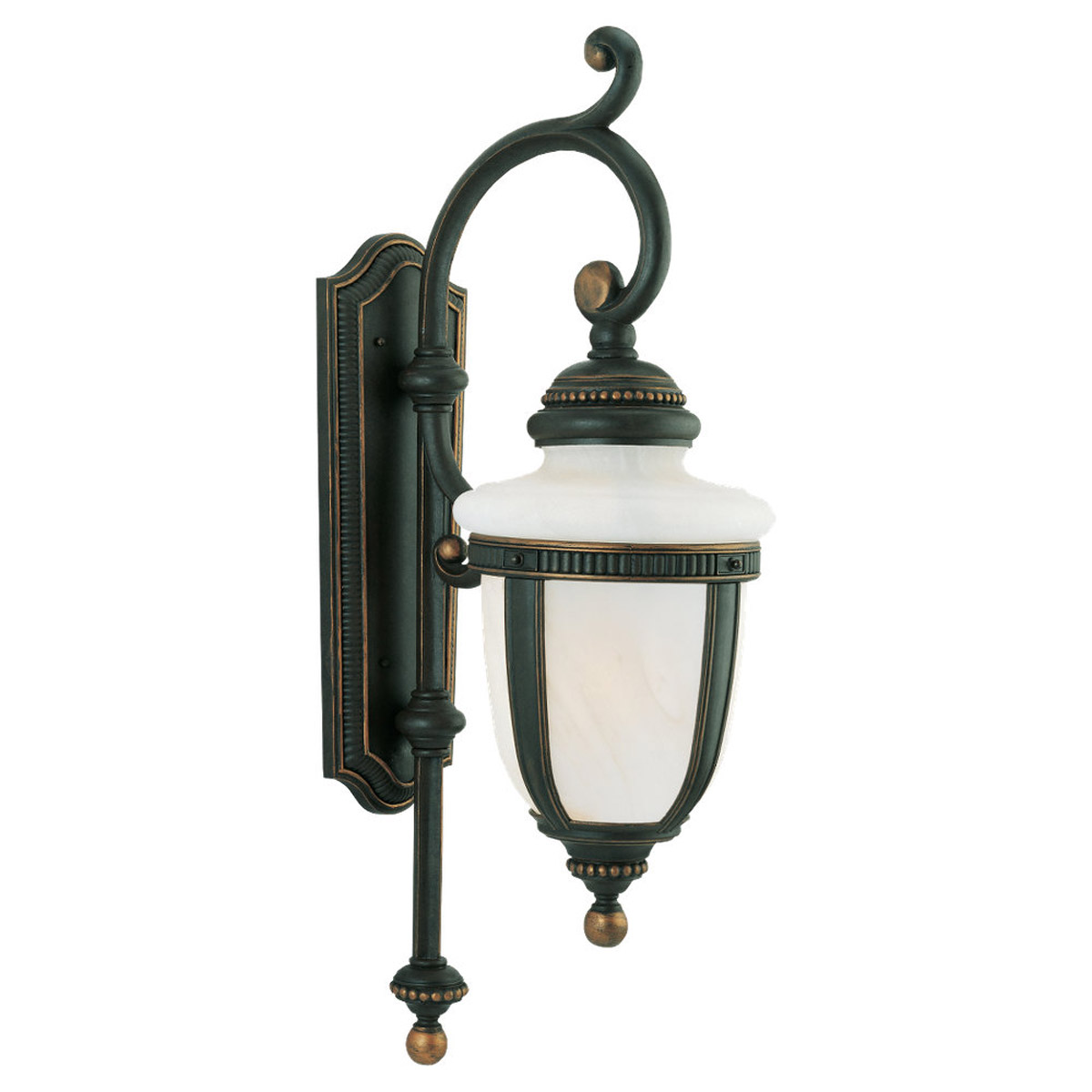 Sea Gull Lighting Portofino 2 Light Outdoor Wall Lantern in Mojave Luster 88057-764 photo