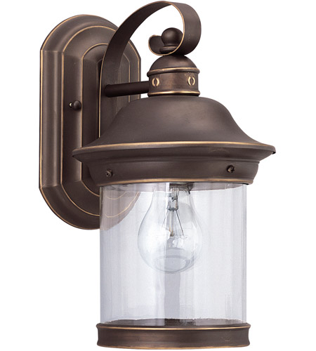 Sea Gull Lighting Hermitage 1 Light Outdoor Wall Lantern in Antique Bronze 88081-71