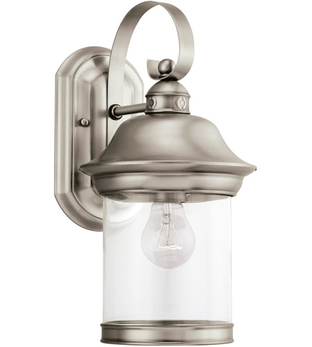 Sea Gull Lighting Hermitage 1 Light Outdoor Wall Lantern in Antique Brushed Nickel 88081-965