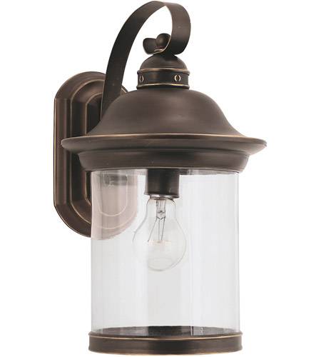 Sea Gull Lighting Hermitage 1 Light Outdoor Wall Lantern in Antique Bronze 88082-71 photo