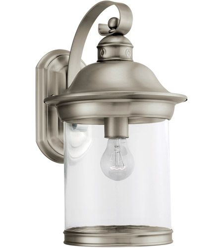 Sea Gull Lighting Hermitage 1 Light Outdoor Wall Lantern in Antique Brushed Nickel 88082-965