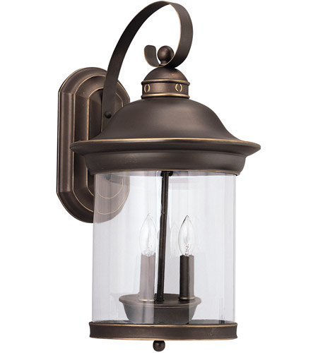 Sea Gull Lighting Hermitage 3 Light Outdoor Wall Lantern in Antique Bronze 88083-71