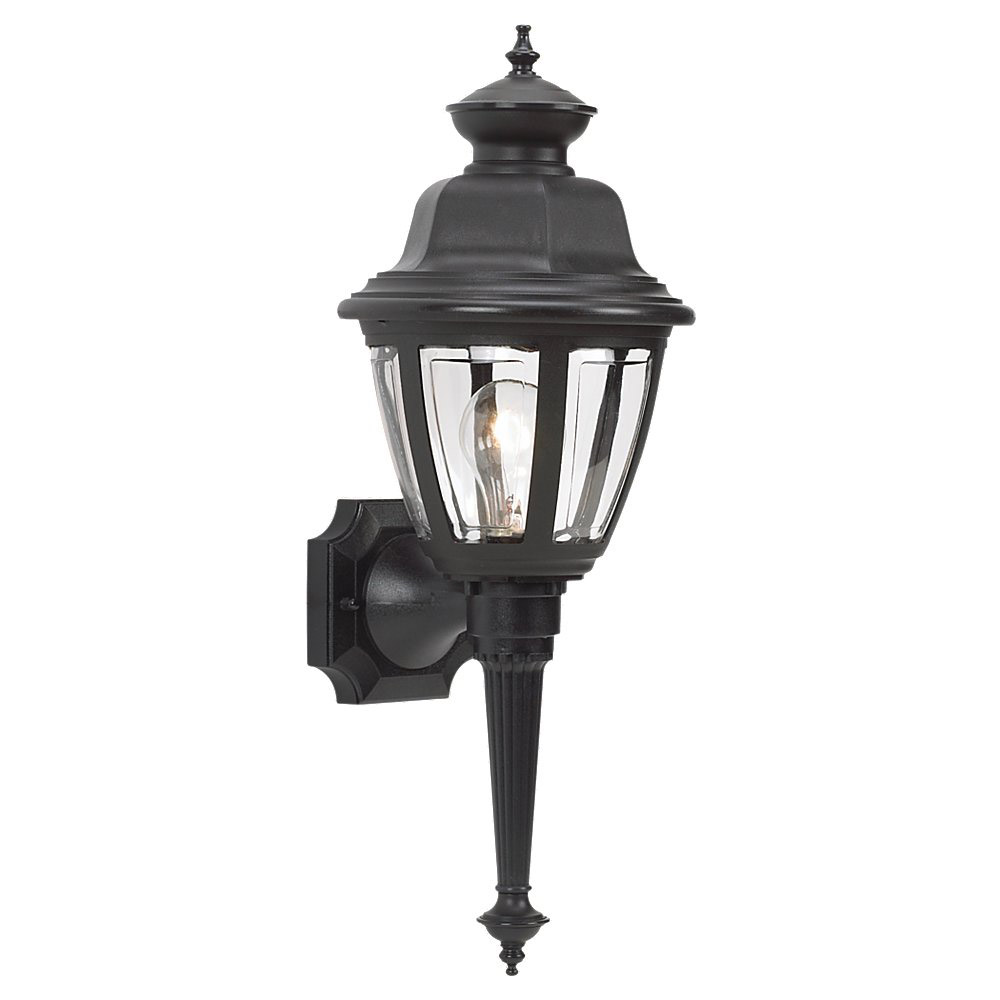 Sea Gull Lighting Belmar 1 Light Outdoor Wall Lantern in Black 88090-12 photo