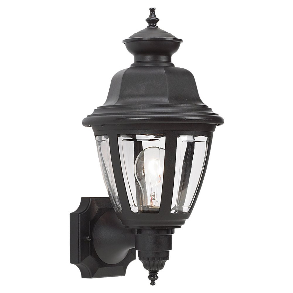Sea Gull Lighting Belmar 1 Light Outdoor Wall Lantern in Black 88092-12 photo