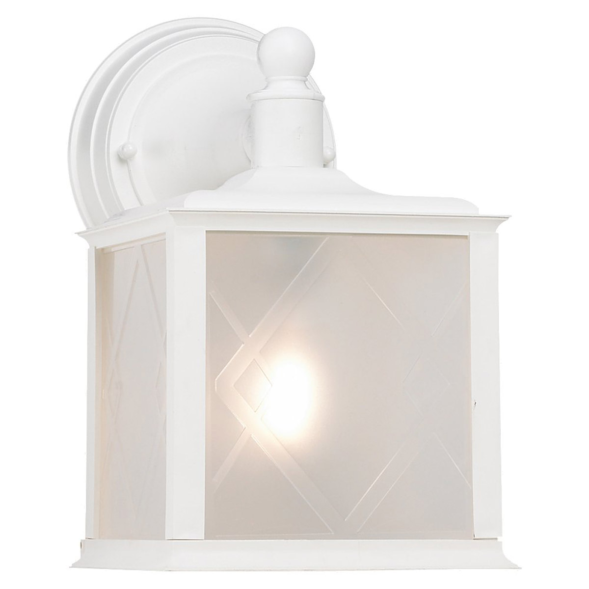 Sea Gull Lighting Harbor Point 1 Light Outdoor Wall Lantern in White 88098-15 photo