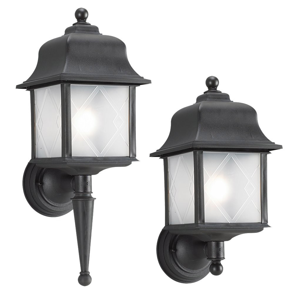 Sea Gull 88103-12 Harbor Point 1 Light 23 inch Black Outdoor Wall Lantern photo