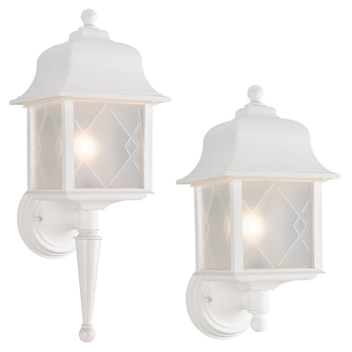 Sea Gull Lighting Harbor Point 1 Light Outdoor Wall Lantern in White 88103-15 photo