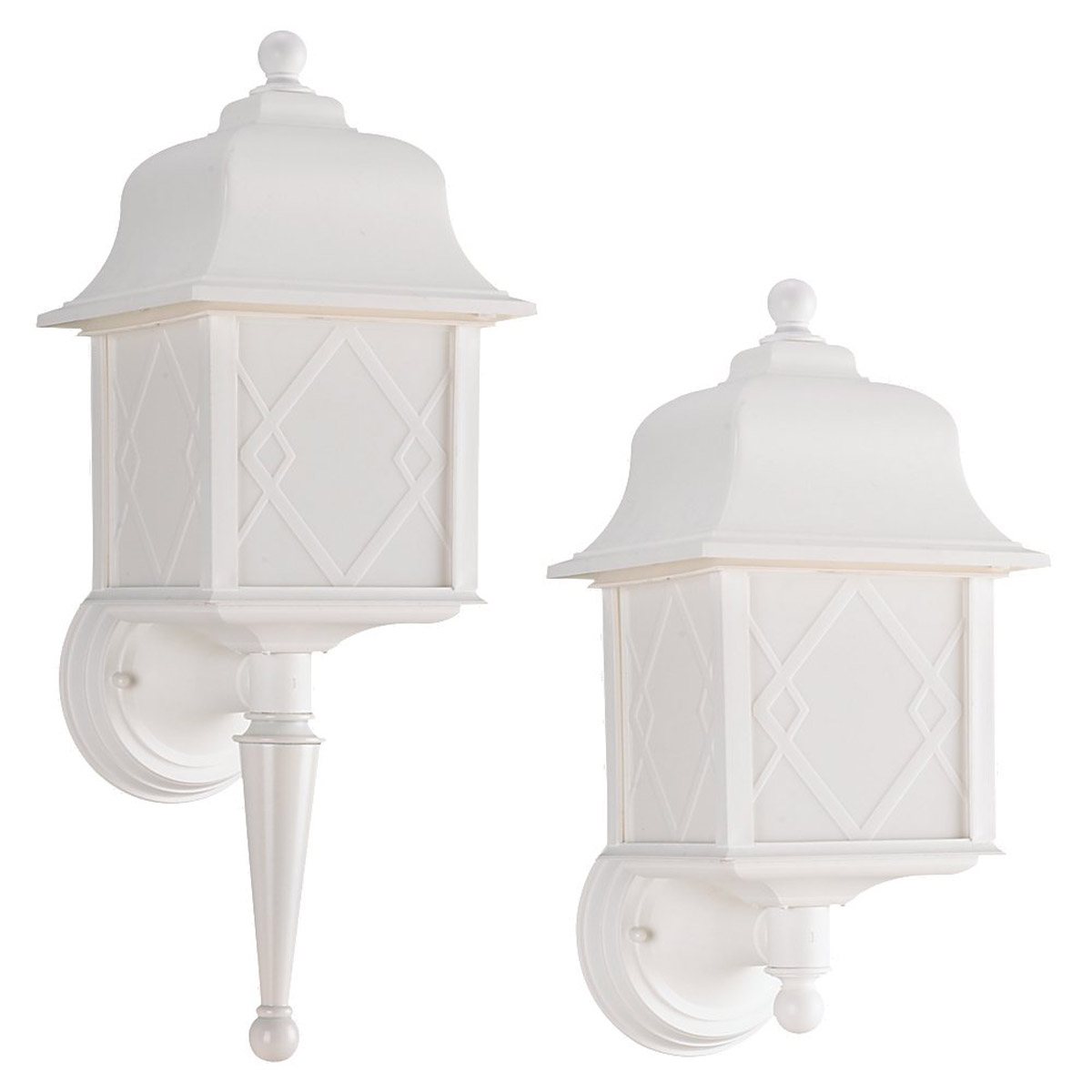 Sea Gull Lighting Harbor Point 1 Light Outdoor Wall Lantern in White 88113BLE-15