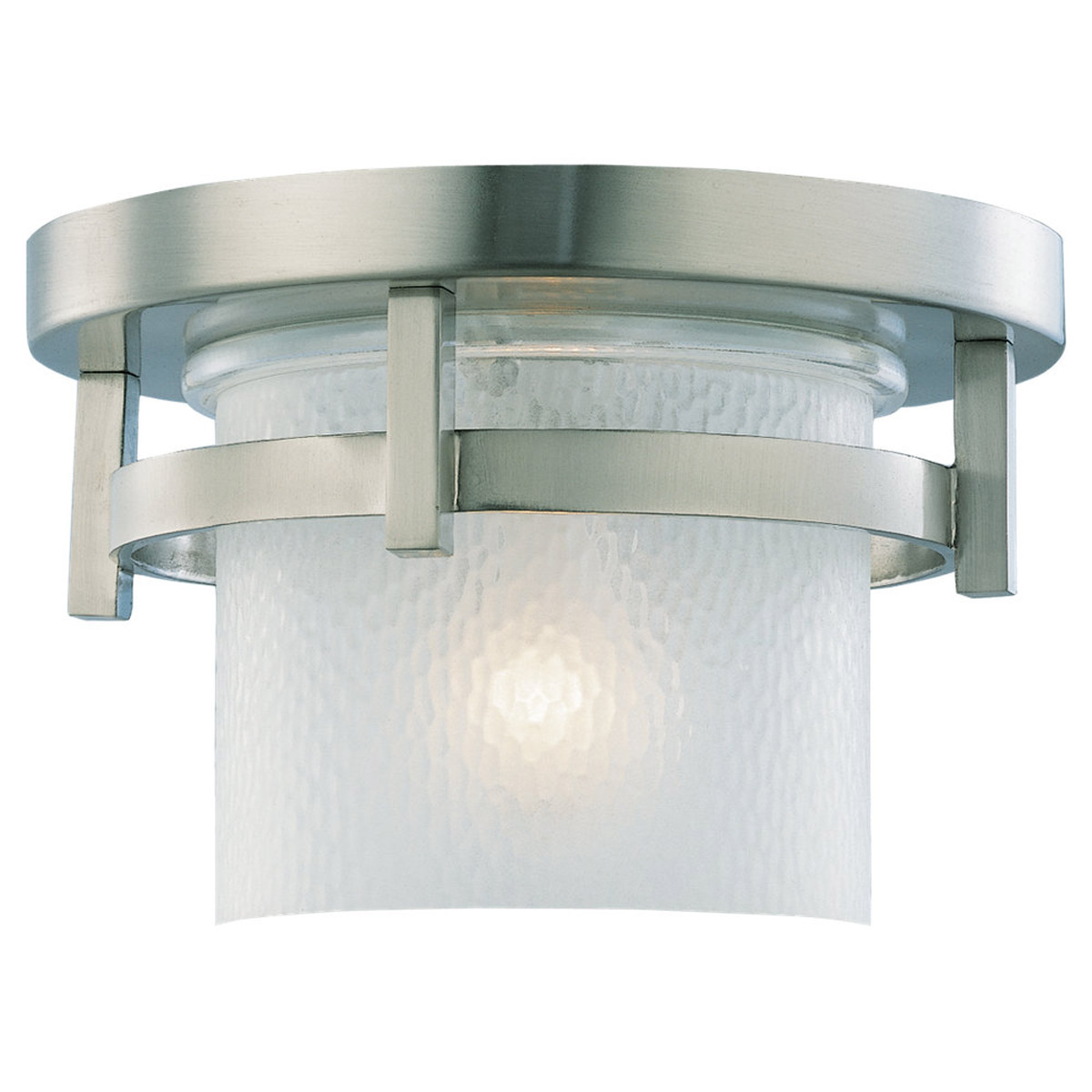 Sea Gull Lighting Eternity 1 Light Outdoor Wall Lantern in Brushed Nickel 88115-962