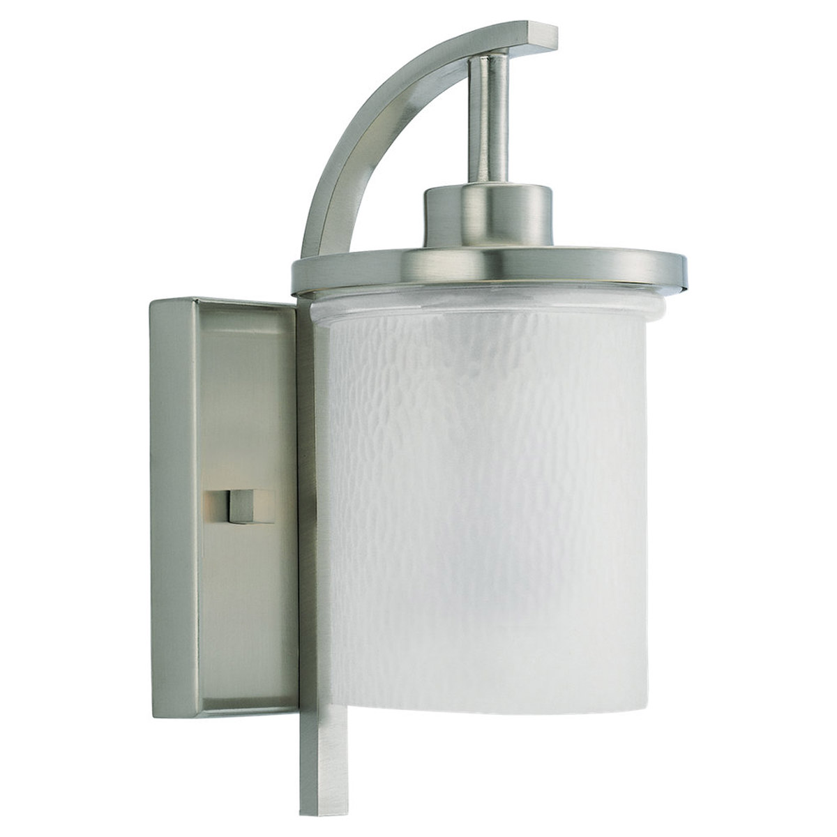 Sea Gull 88116-962 Eternity 1 Light 12 inch Brushed Nickel Outdoor Wall Lantern photo