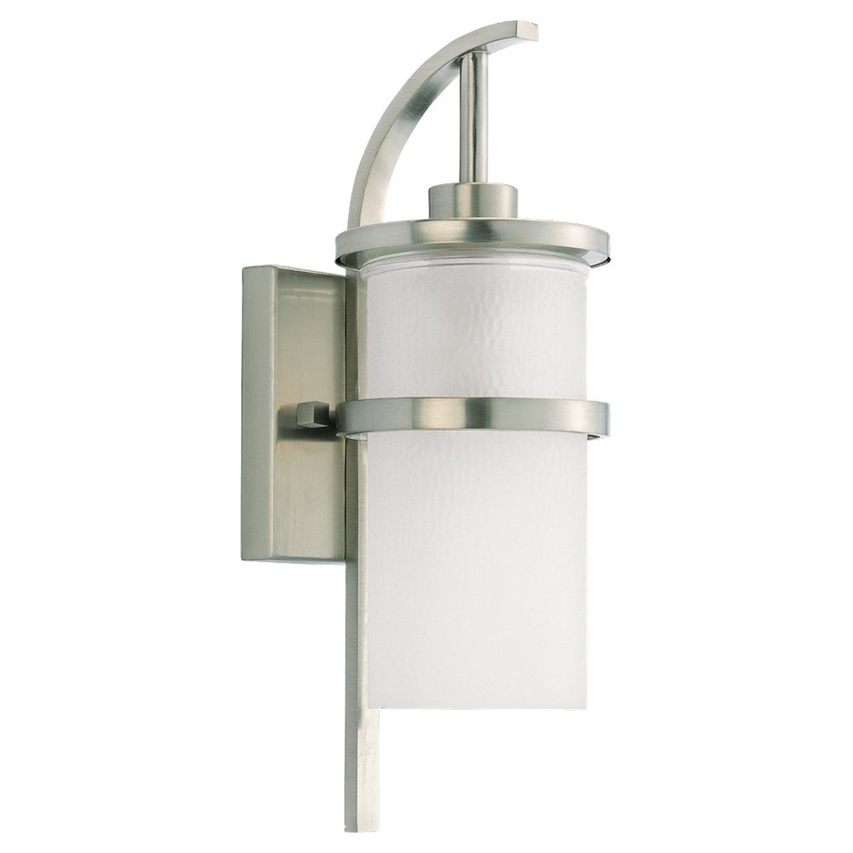Sea Gull Lighting Eternity 1 Light Outdoor Wall Lantern in Brushed Nickel 88117-962
