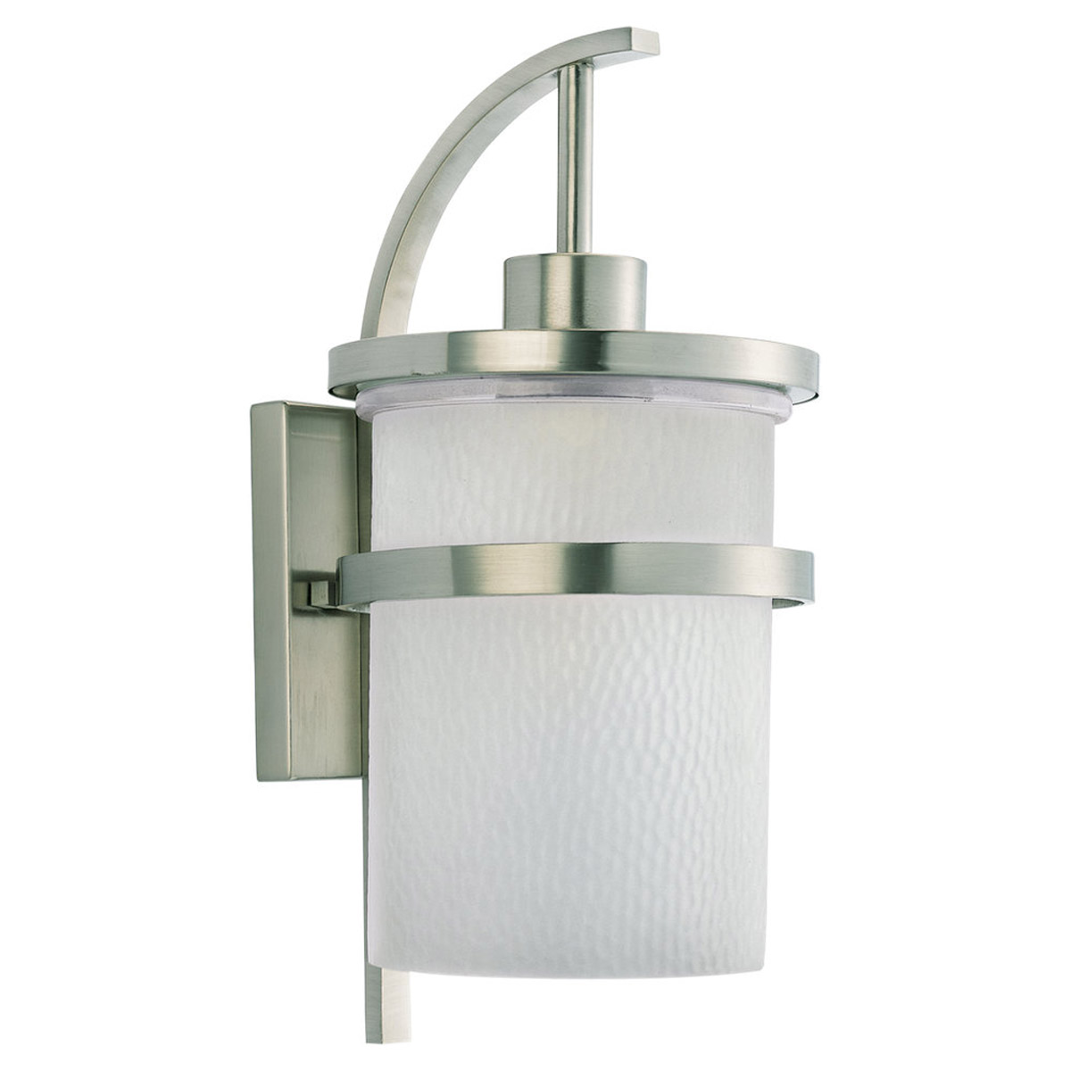 Sea Gull Lighting Eternity 1 Light Outdoor Wall Lantern in Brushed Nickel 88119-962 photo
