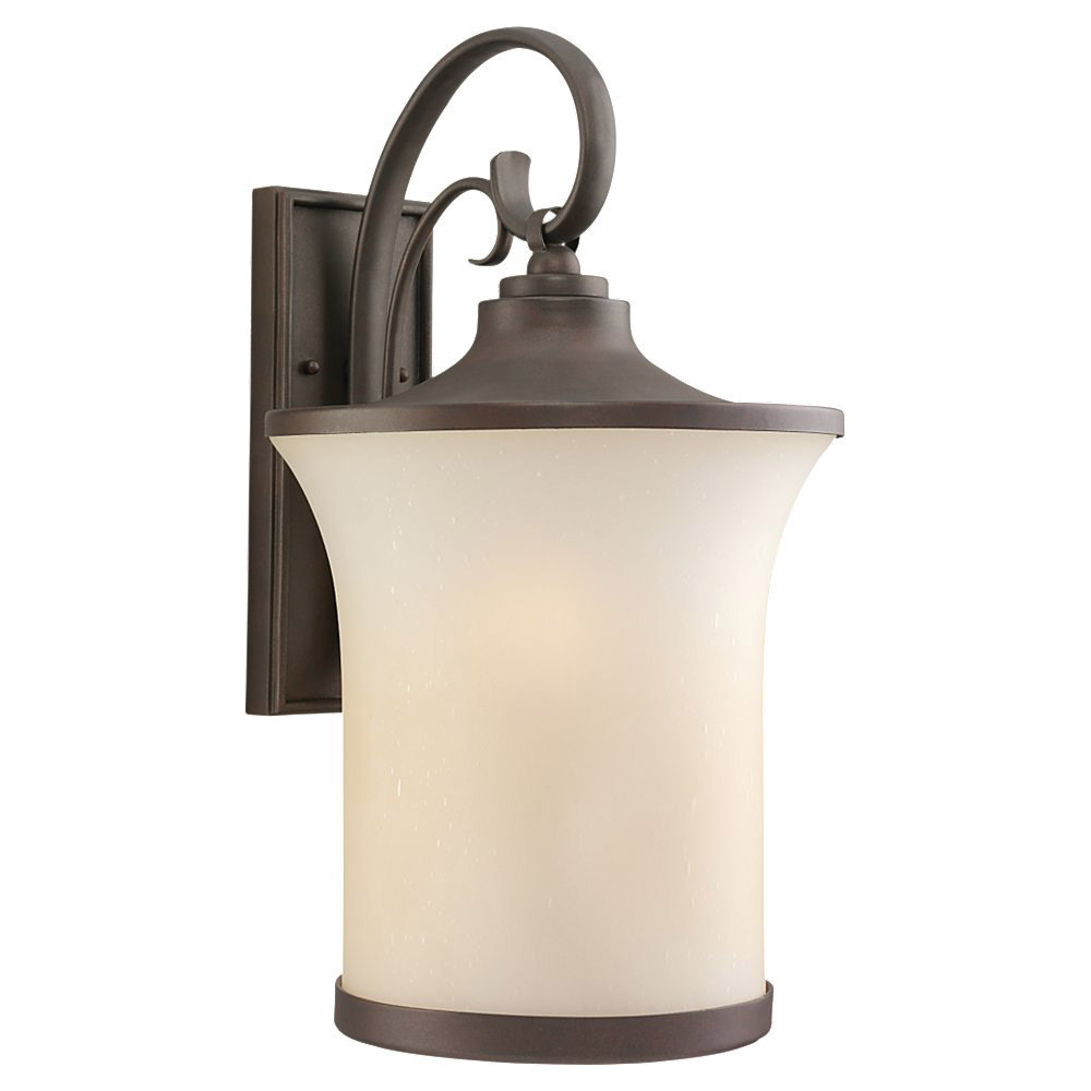 Sea Gull Lighting Del Prato 1 Light Outdoor Wall Lantern in Chestnut Bronze 88124BLE-820