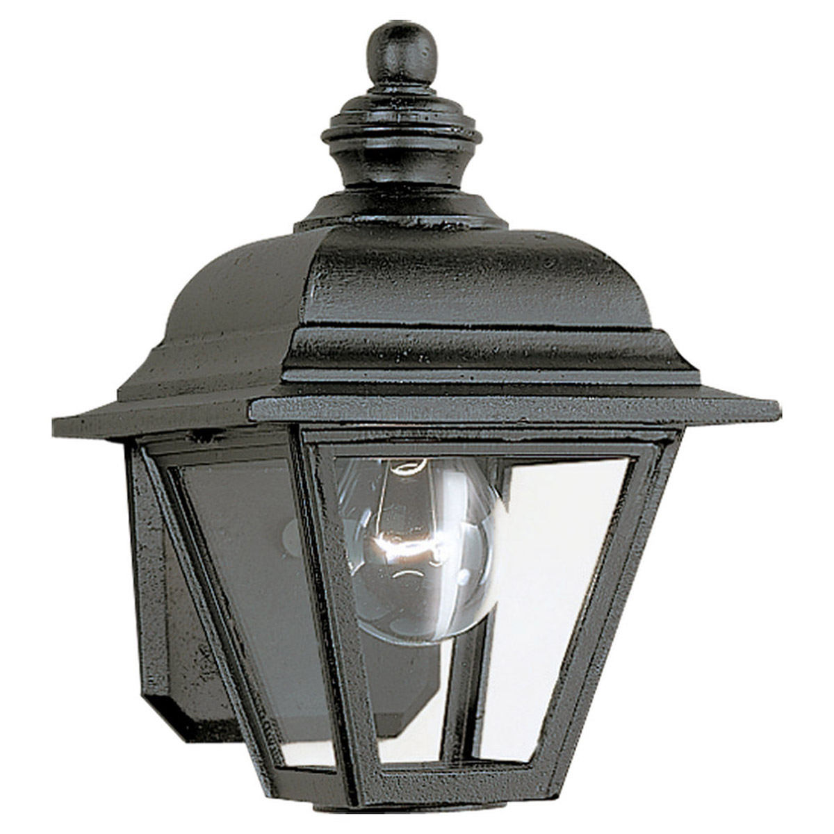 Sea Gull Lighting Bancroft 1 Light Outdoor Wall Lantern in Black 8813-12