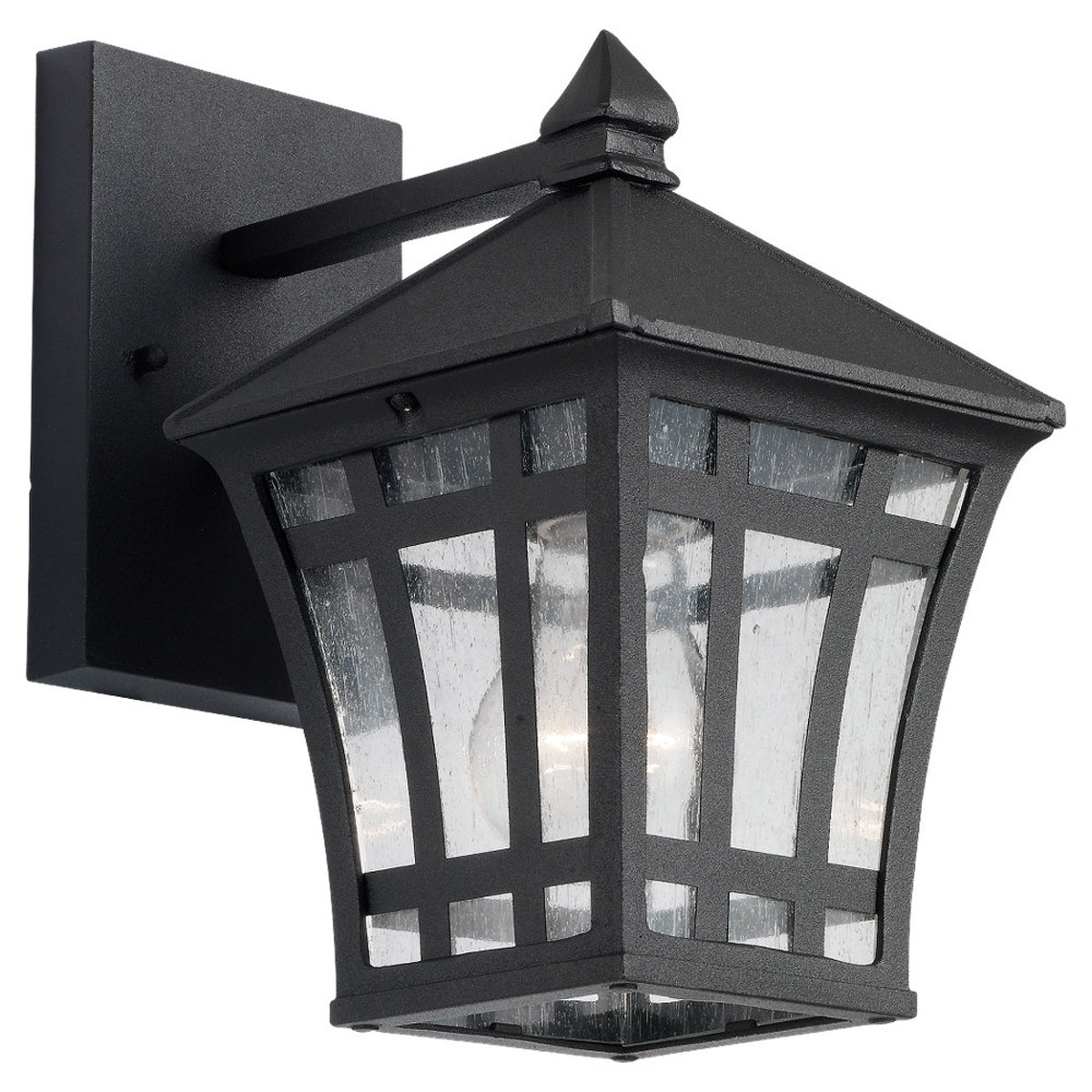 Sea Gull Lighting Herrington 1 Light Outdoor Wall Lantern in Black 88131-12