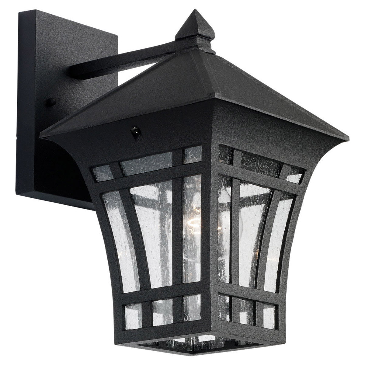 Sea Gull Lighting Herrington 1 Light Outdoor Wall Lantern in Black 88132-12