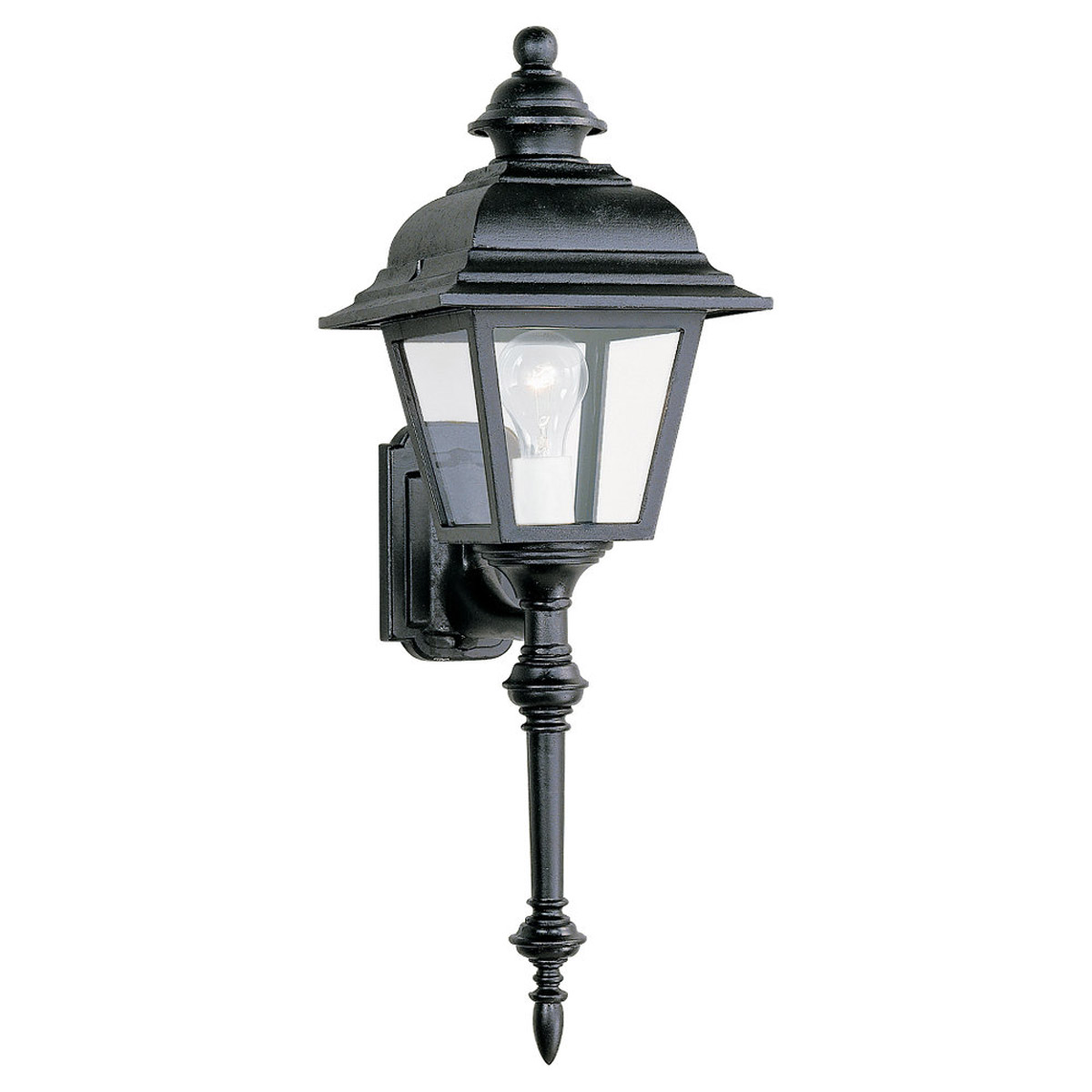 Sea Gull Lighting Bancroft 1 Light Outdoor Wall Lantern in Black 8814-12 photo