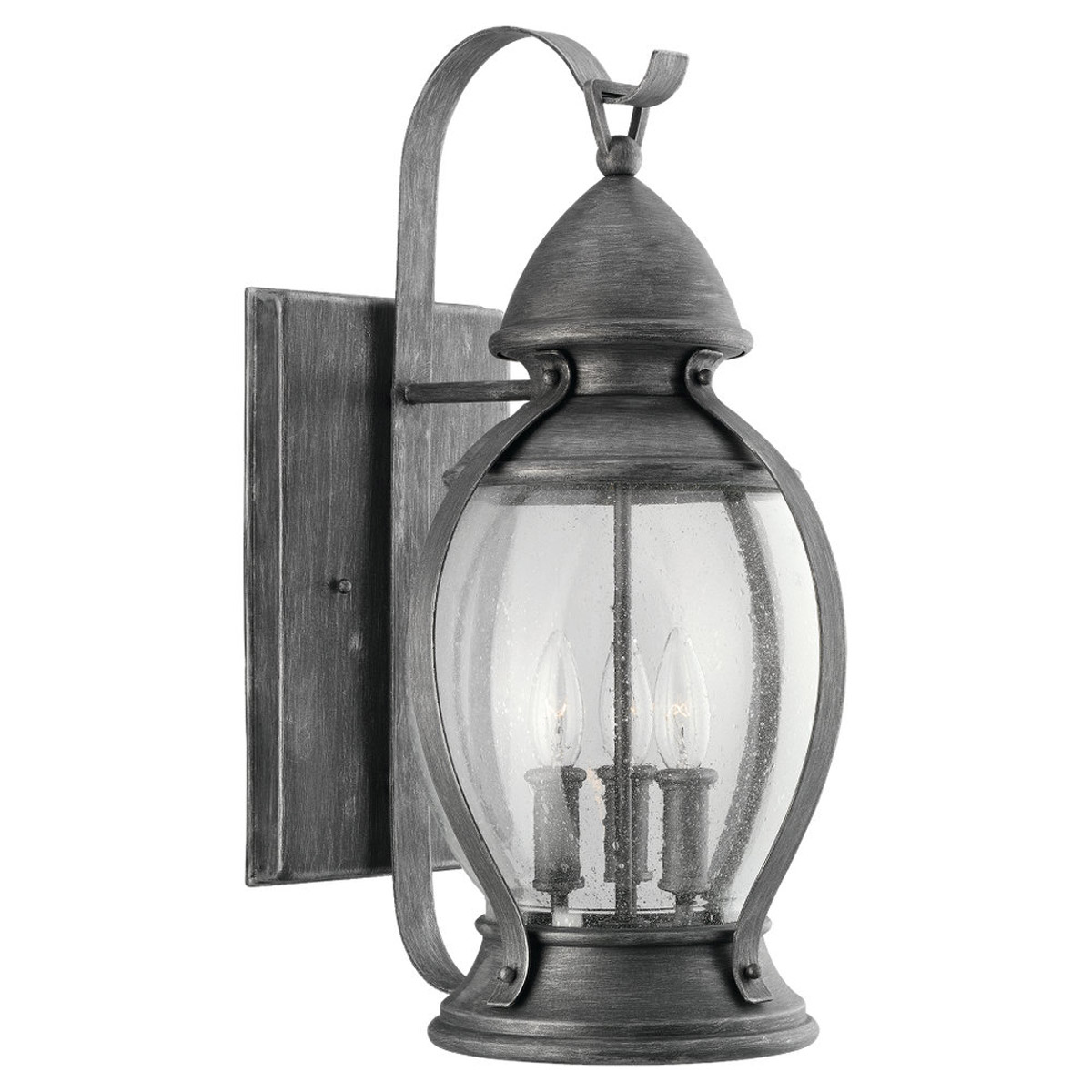 Sea Gull Lighting Kingston 3 Light Outdoor Wall Lantern in Stardust 88197-846 photo
